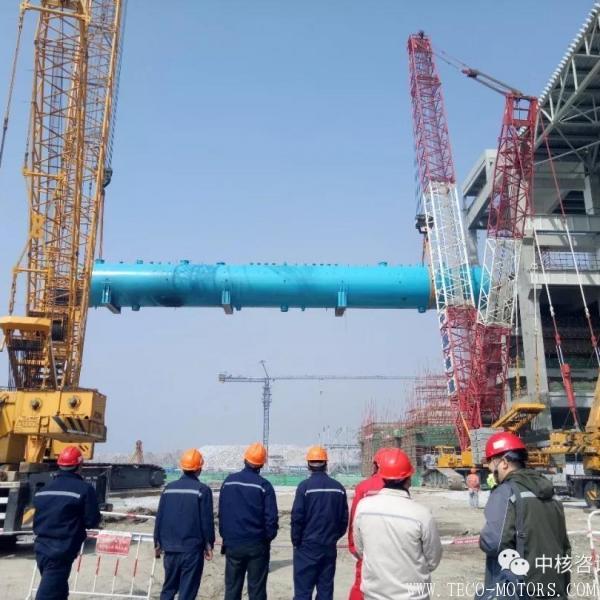 【电厂】田湾核电5号机组除氧器整体吊装成功 行业资讯