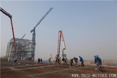 【电厂】江苏华电如皋热电联产工程化水车间结构到顶 行业资讯