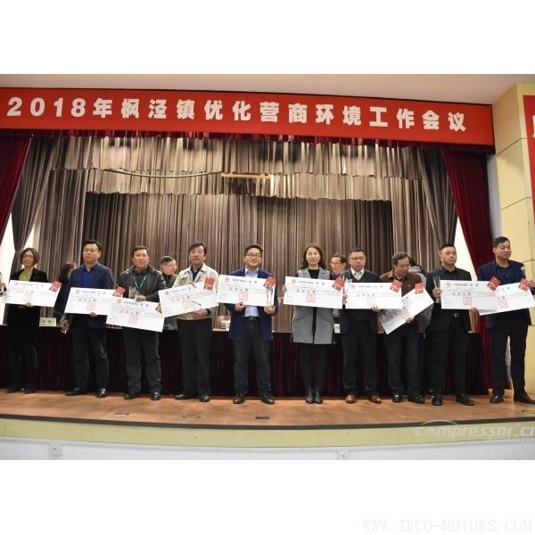【压缩机】汉钟精机和德耐尔在枫泾镇2018年优化营商环境工作会议上获奖 行业资讯 第3张